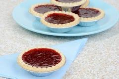 Strawberry tart on a blue napkin Stock Photography