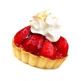 Strawberry tart isolated Stock Photo