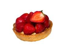 Strawberry Tart ,isolated On White Stock Image