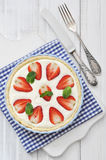 Strawberry tart with ricotta Royalty Free Stock Image