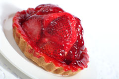 Strawberry tart slanted Royalty Free Stock Photography
