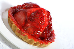 Strawberry tart slanted Stock Photos