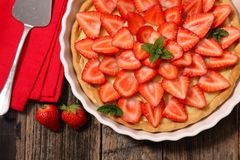 Free Strawberry Tart, Top View Stock Photography - 111648222