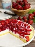 Strawberry tart with vanilla cream Royalty Free Stock Photo