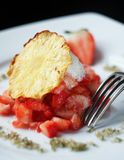 Strawberry tartare Stock Photography