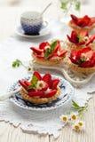 Strawberry tartlets royalty free stock photo