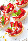Strawberry tartlets Royalty Free Stock Images