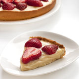 Strawberry tarts with custard Stock Images