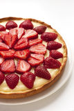 Strawberry tarts with custard Royalty Free Stock Image