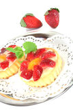 Strawberry tarts with mint Royalty Free Stock Images