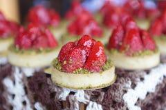 Strawberry Tarts Stock Photos