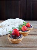 Strawberry tarts Royalty Free Stock Photos