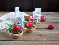 Strawberry tarts Royalty Free Stock Image