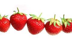 Strawberry. Tasty strawberry on white background Royalty Free Stock Image