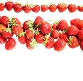 Strawberry. Tasty strawberry on white background Royalty Free Stock Images
