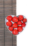 Strawberry. Tasty strawberry on white background Royalty Free Stock Photography