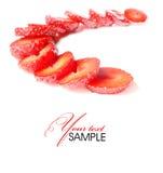 Strawberry. Tasty strawberry on white background Stock Image