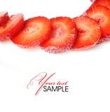 Strawberry. Tasty strawberry on white background Stock Photos