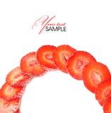 Strawberry. Tasty strawberry on white background Royalty Free Stock Photo