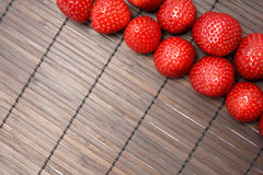 Strawberry. Tasty strawberry on wooden background Stock Photography