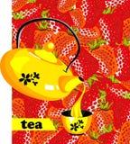 Strawberry tea Stock Image