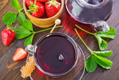 Strawberry tea stock images