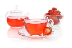 Strawberry tea Royalty Free Stock Photos