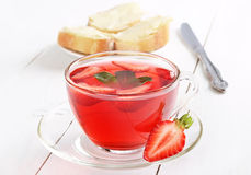 Strawberry tea Stock Photos
