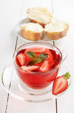 Strawberry tea with mint Stock Images