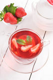 Strawberry tea with mint Stock Photography