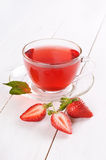 Strawberry tea and strawberries Royalty Free Stock Images