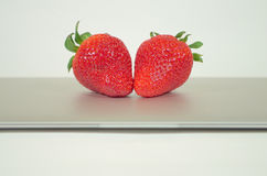 Strawberry tech. Just another fruit meets high-tech Royalty Free Stock Photos