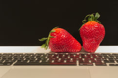 Strawberry tech. Just another fruit meets high-tech Royalty Free Stock Photography