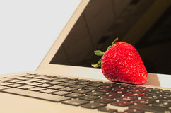 Strawberry tech. Just another fruit meets high-tech Royalty Free Stock Image
