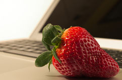 Strawberry tech. Just another fruit meets high-tech Stock Photo