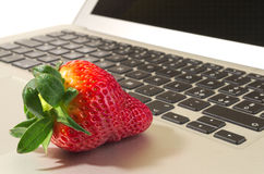Strawberry tech. Just another fruit meets high-tech Stock Photos