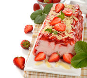 Strawberry terrine Stock Photography