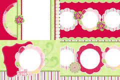Strawberry themed photo frames Royalty Free Stock Photography