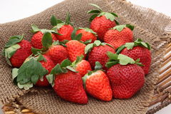 Strawberry. Three kinds of Japanese strawberry on colander, `Amaou`,`Sagahonoka` and `Yumenoka` / Strawberry Stock Photography
