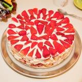 Strawberry tiramisu Stock Images