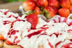 Strawberry Tiramisu stock photos