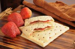 Strawberry toaster tarts Stock Photo