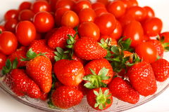 Strawberry and tomato Royalty Free Stock Image