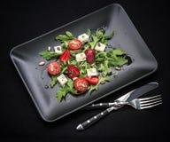 Strawberry tomato salad, feta cheese Stock Image
