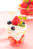 Strawberry trifle Royalty Free Stock Image