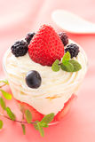 Strawberry trifle Stock Photo