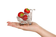 Strawberry trolley Stock Image