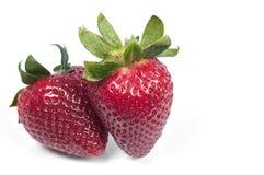 Strawberry. Two strawberry isolated on white background stock image
