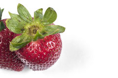 Strawberry. Two strawberry isolated on white background royalty free stock image