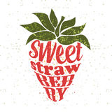 Strawberry, typography  concept Stock Photography